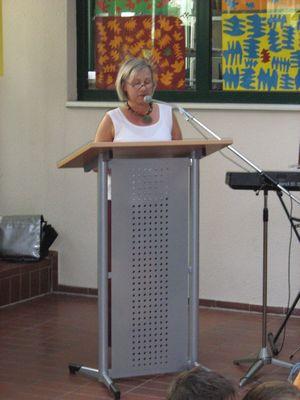 Frau Jablonski, Rektorin der Rudolf-Dietz Schule Naurod